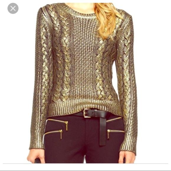 577222be0b Michael Kors gold coated cable sweater. M 5a9b2f9e9cc7ef12d1f11db7